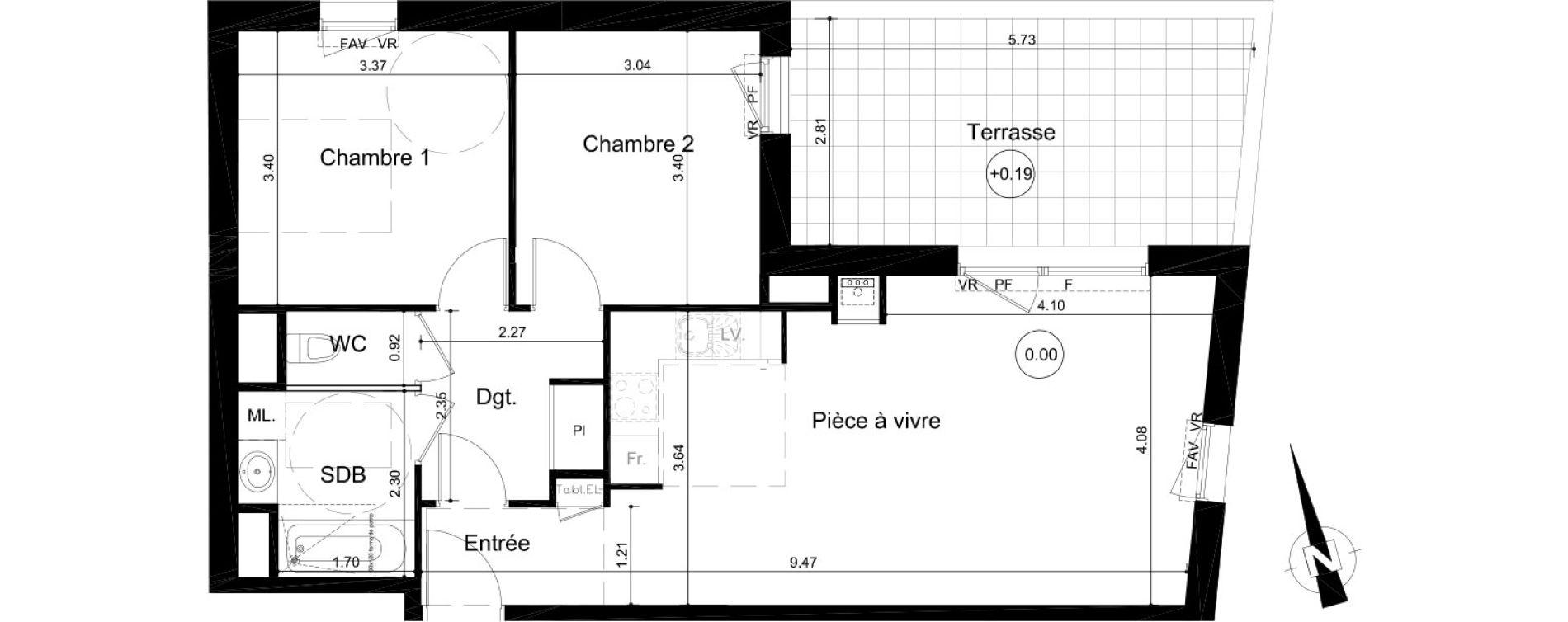 Plan T3 neuf à Fleury-sur-Orne de