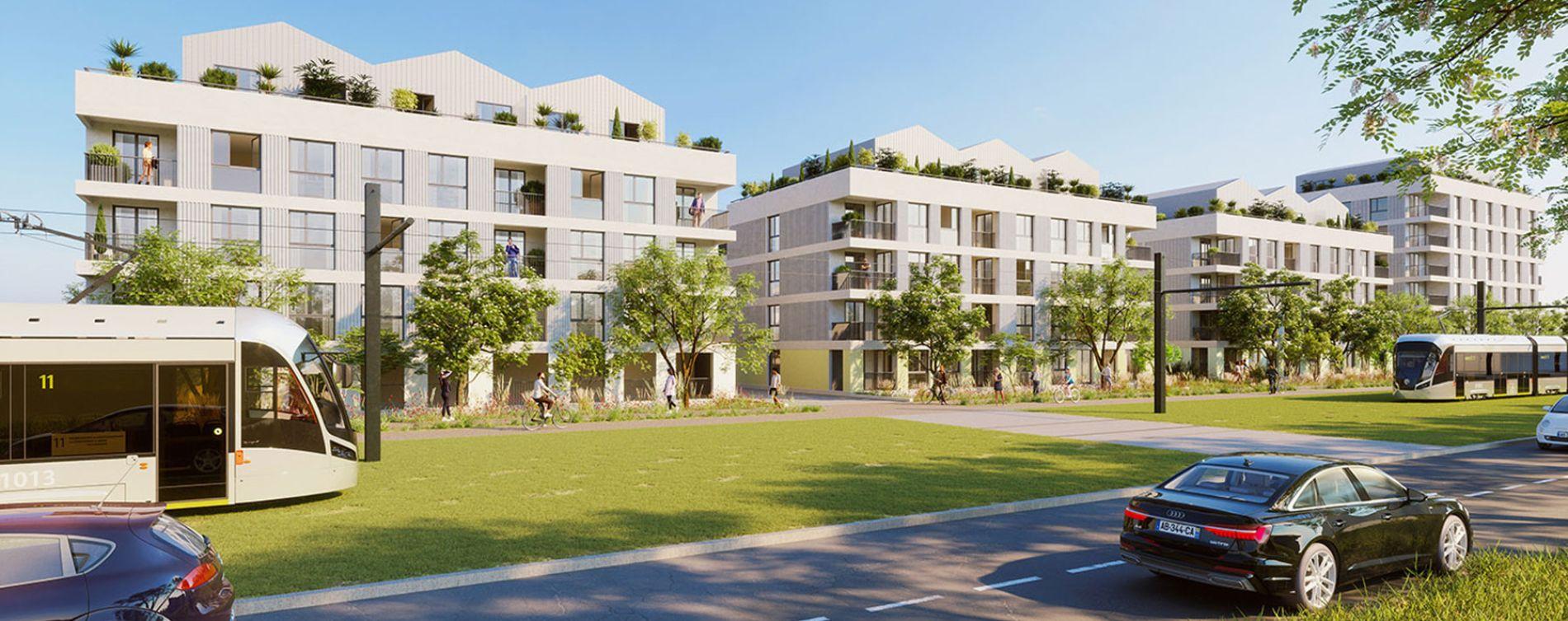 Fleury-sur-Orne : programme immobilier neuve « Les Terrasses de L'Etang » en Loi Pinel