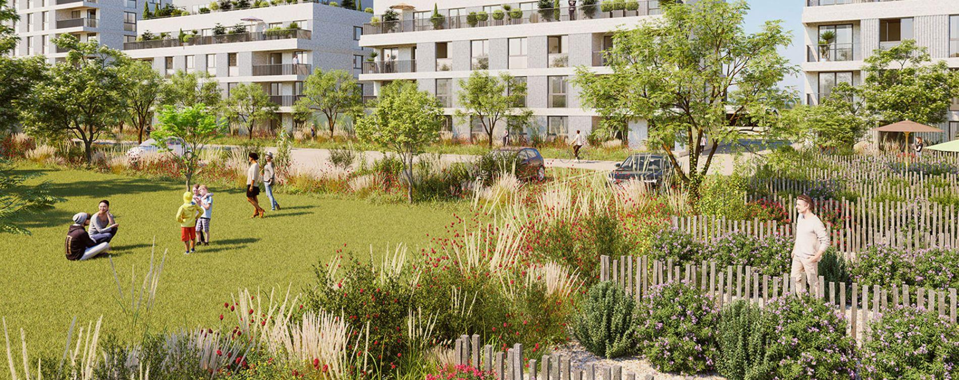 Fleury-sur-Orne : programme immobilier neuve « Les Terrasses de L'Etang » en Loi Pinel (2)