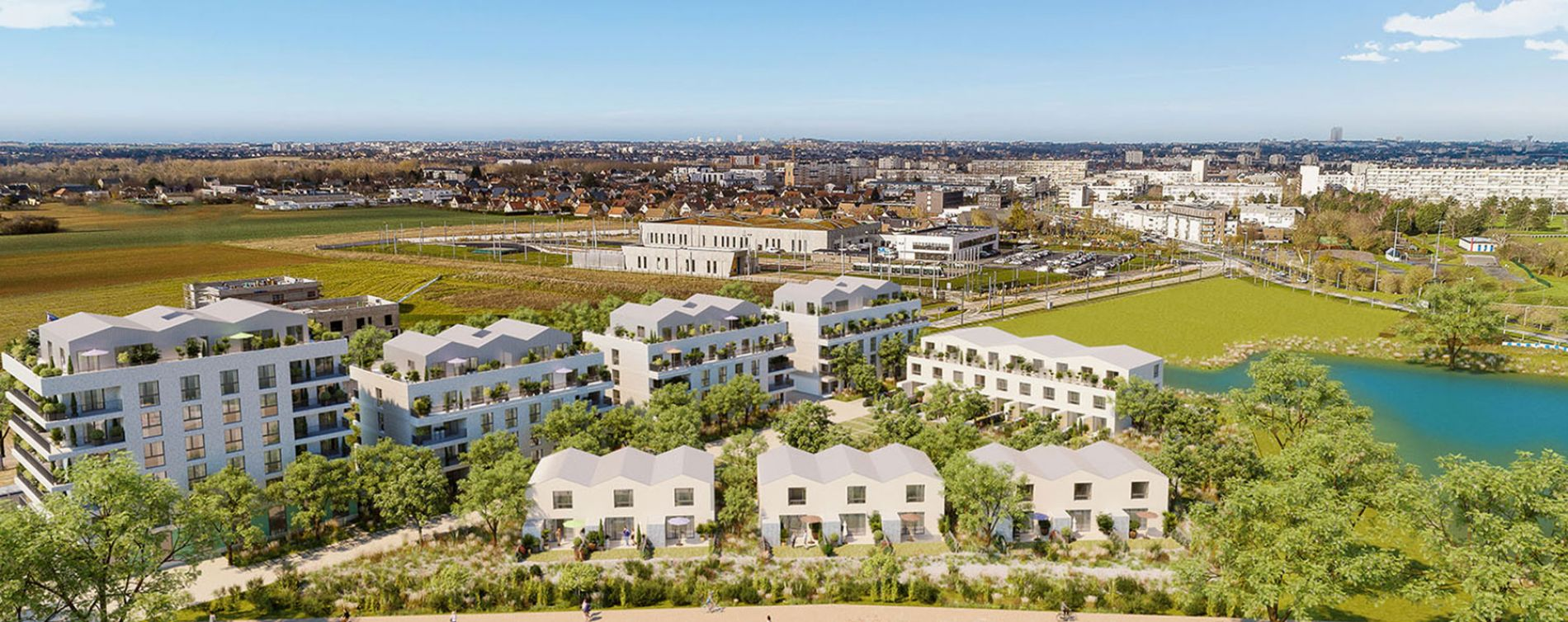 Fleury-sur-Orne : programme immobilier neuve « Les Terrasses de L'Etang » en Loi Pinel (5)