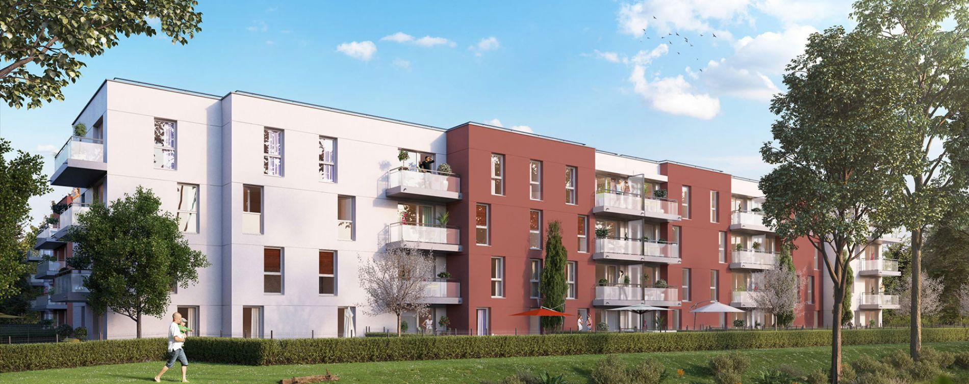Gisors : programme immobilier neuve « Les JArdins de Pissarro » en Loi Pinel