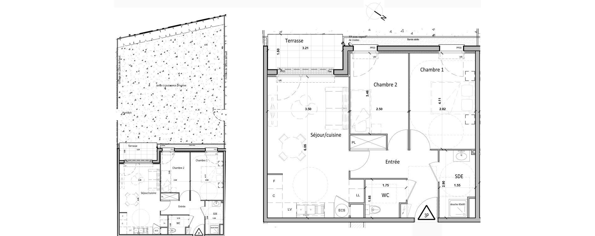Appartement T3 de 56,50 m2 à Gisors Centre