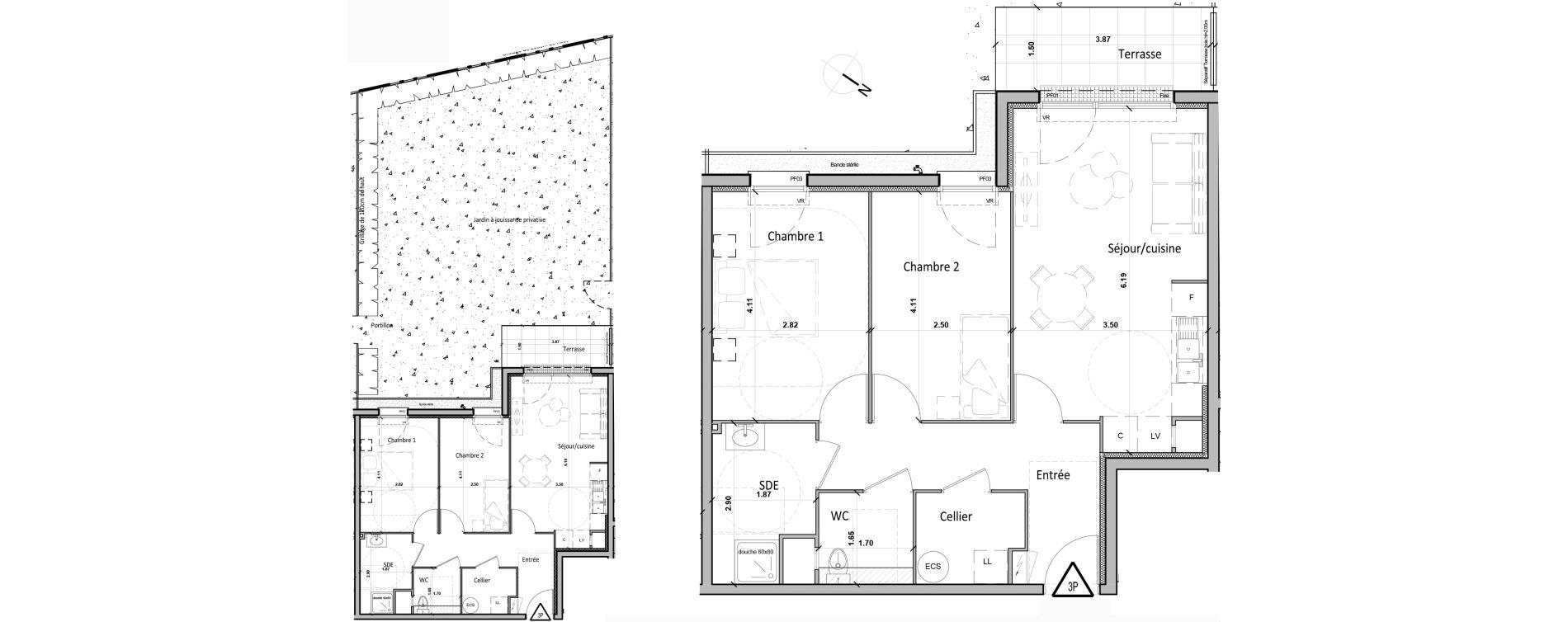 Appartement T3 de 59,90 m2 à Gisors Centre
