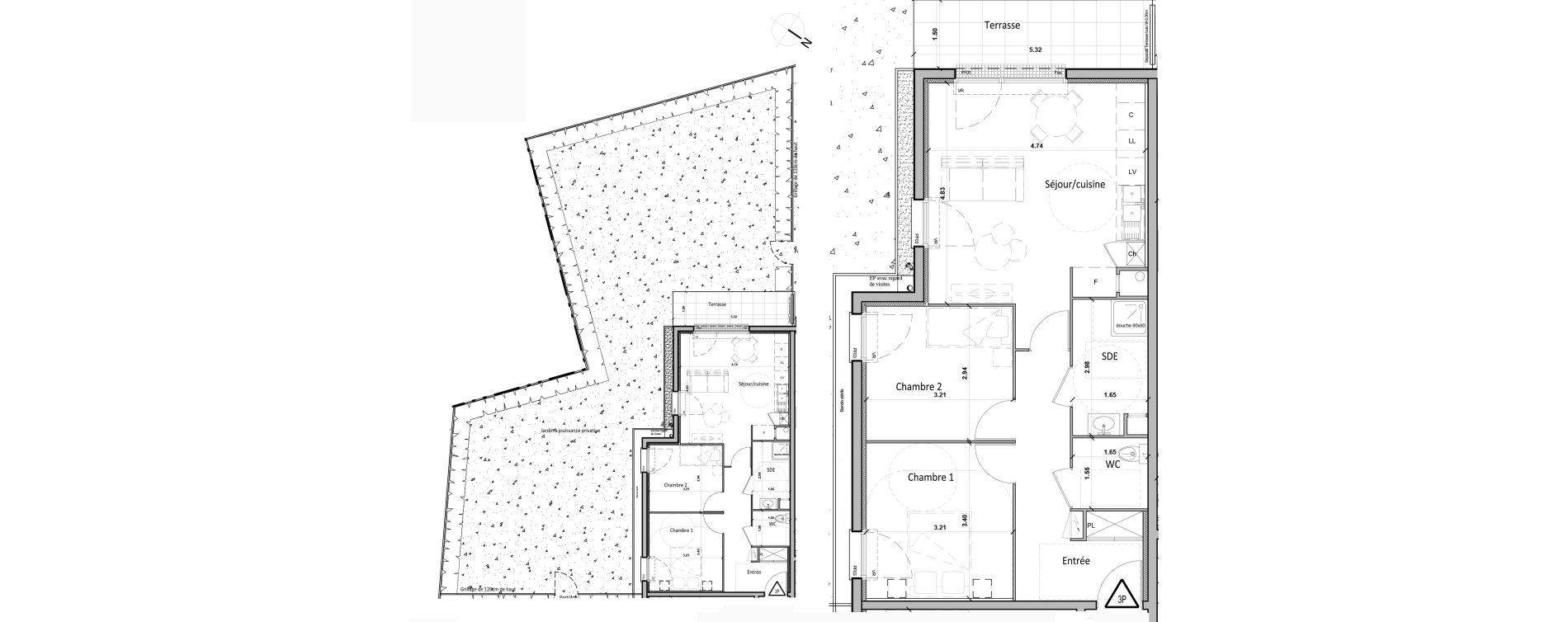 Appartement T3 de 60,00 m2 à Gisors Centre