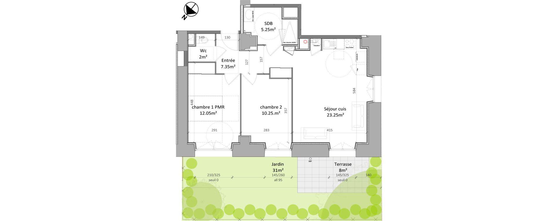 Appartement T3 de 60,15 m2 à Vernon Centre