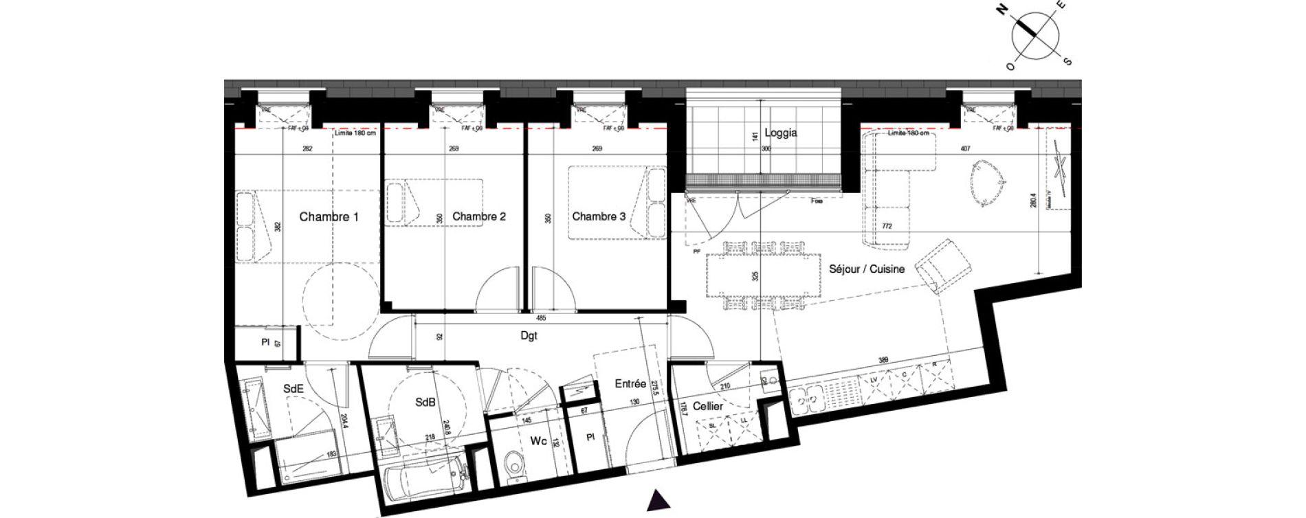 Appartement T4 de 88,88 m2 à Cherbourg-Octeville Cherbourg