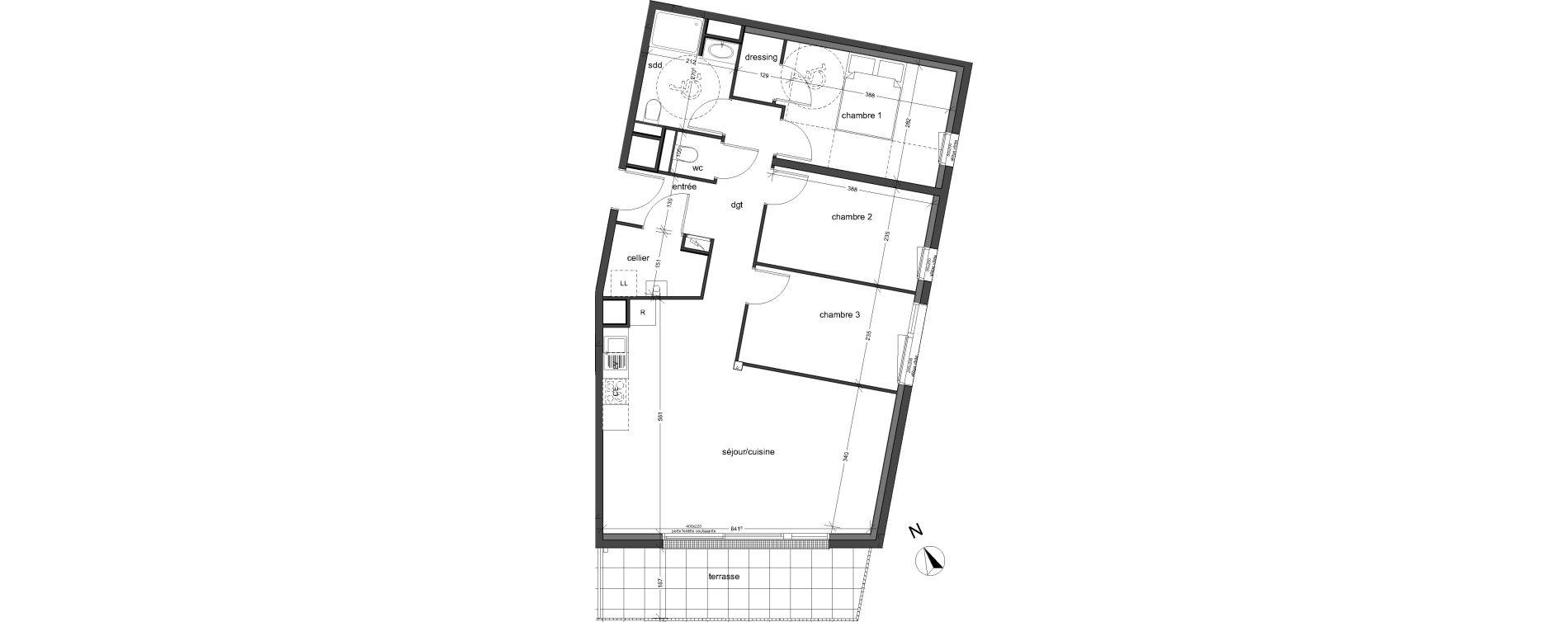 Appartement T4 de 79,91 m2 à Bois-Guillaume Centre
