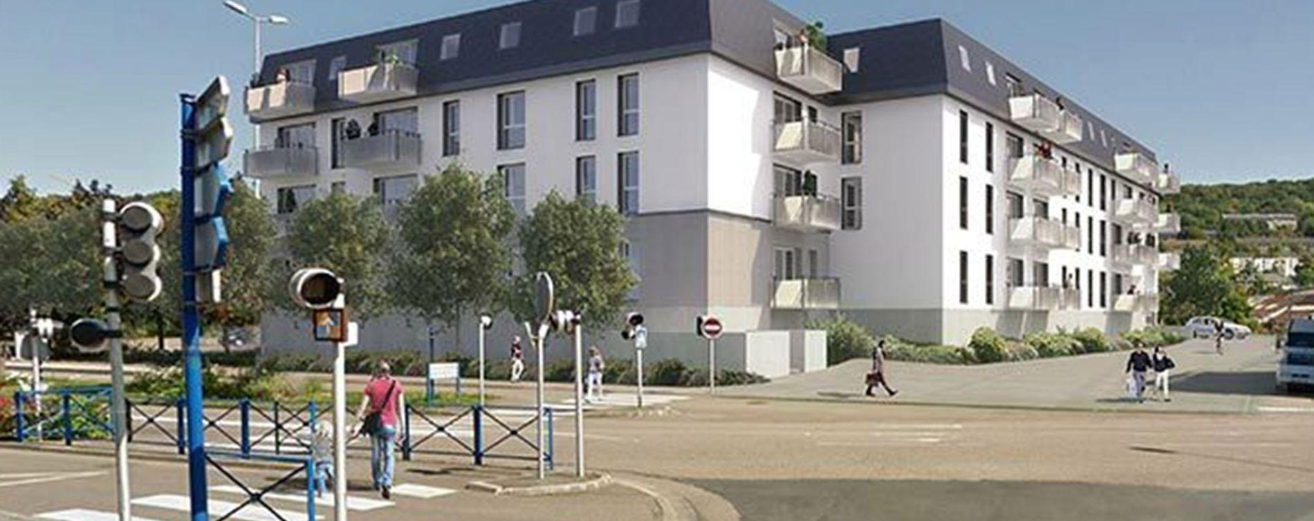 Déville-lès-Rouen : programme immobilier neuve « L'Etoffe du Cailly » en Loi Pinel