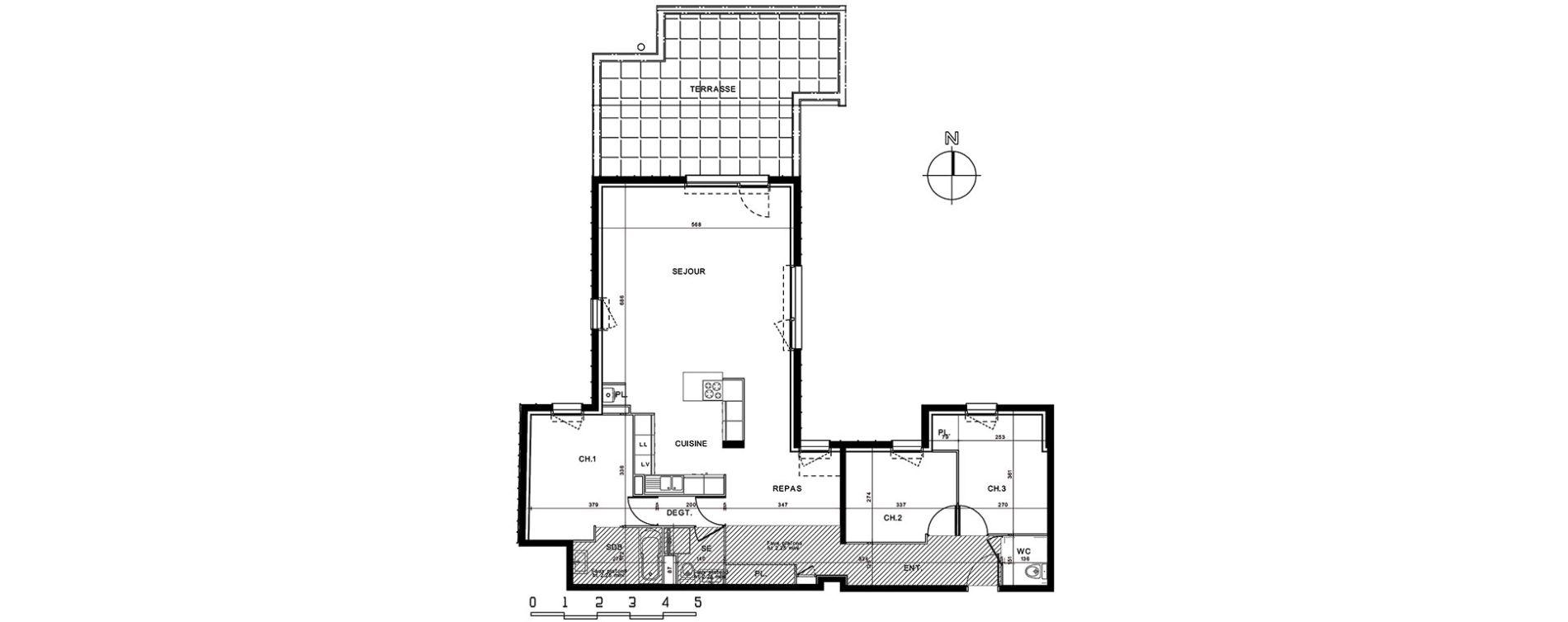 Appartement T5 de 109,78 m2 à Dieppe Centre