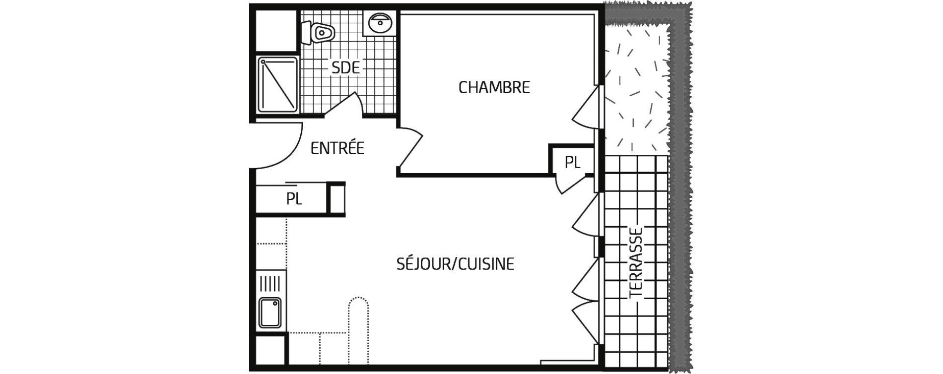 Appartement T2 de 44,51 m2 à Grand-Couronne Centre