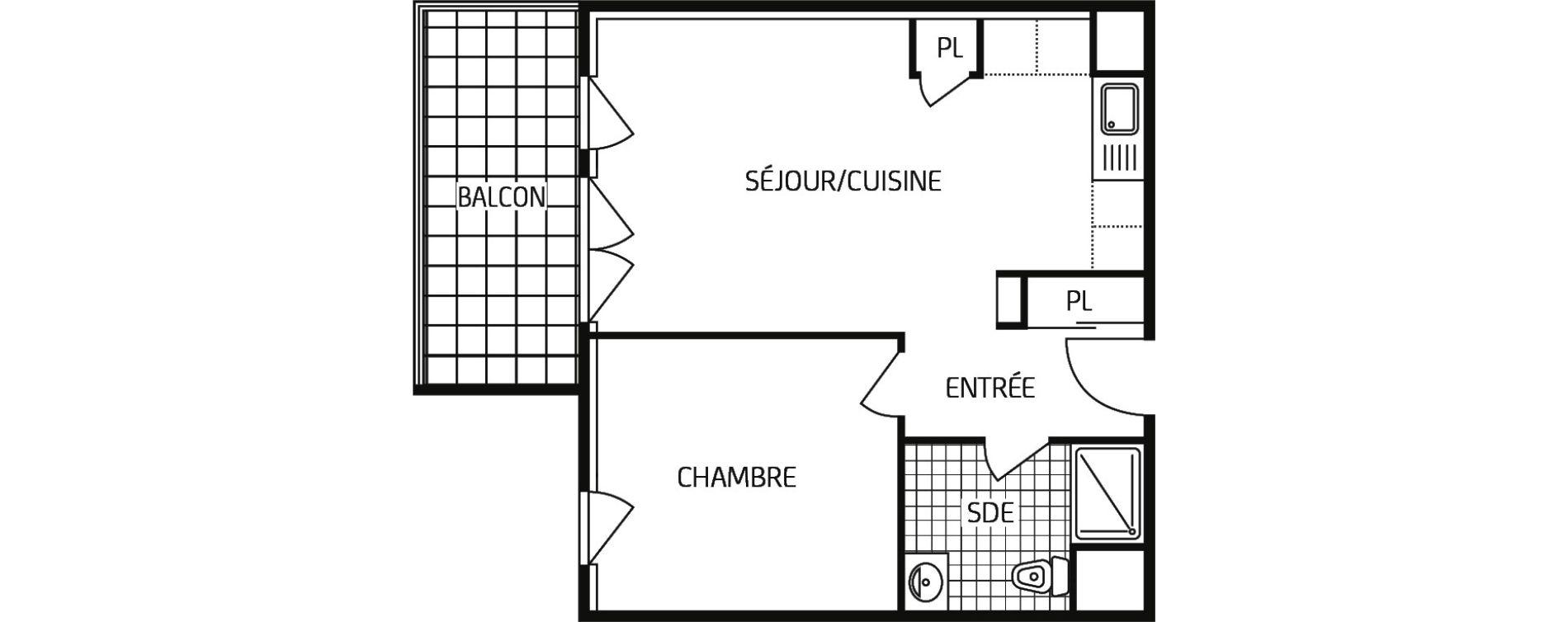 Appartement T2 de 43,69 m2 à Grand-Couronne Centre