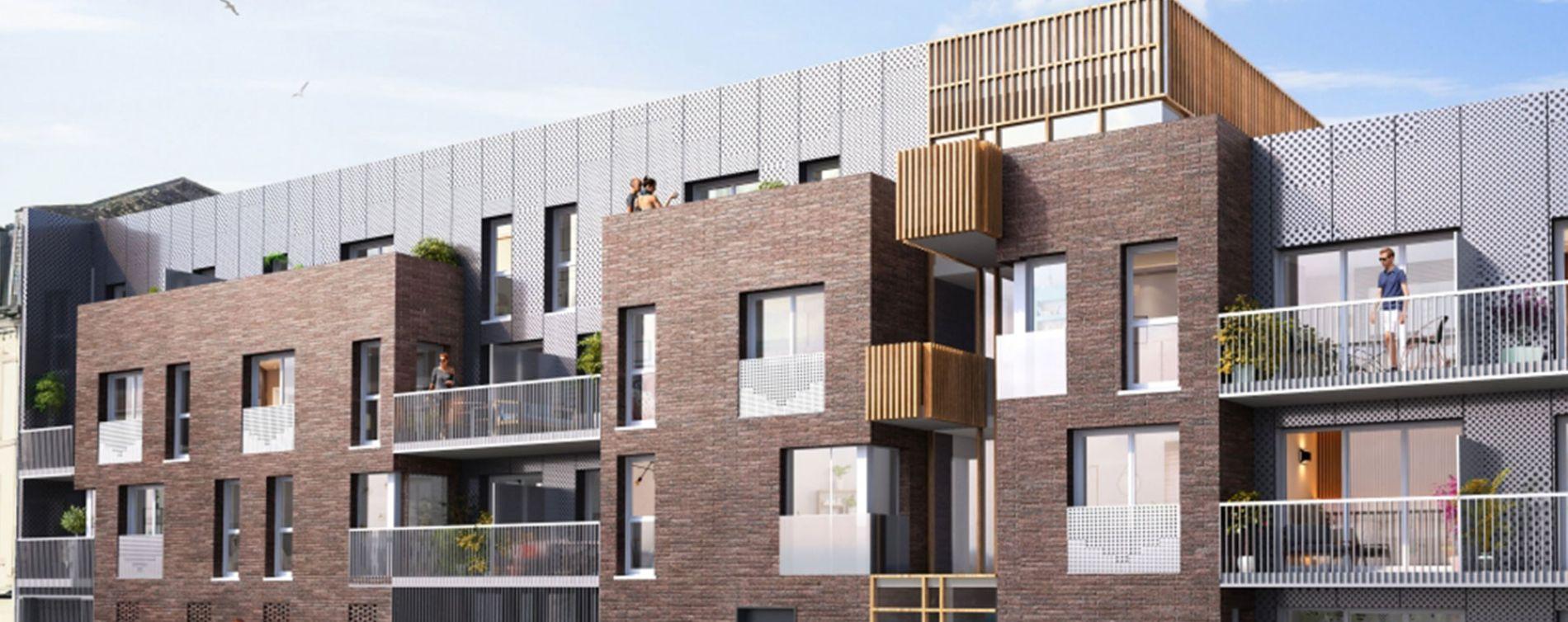 Le Havre : programme immobilier neuve « Les Jardins des Docks » en Loi Pinel