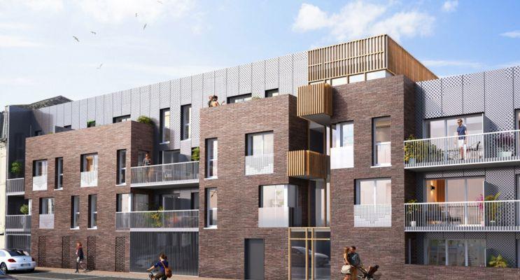Le Havre : programme immobilier neuf « Les Jardins des Docks » en Loi Pinel