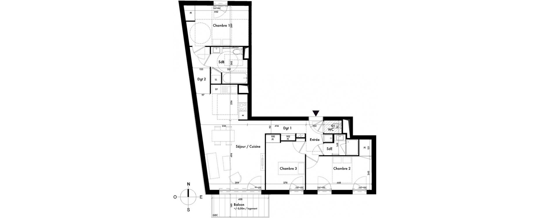 plan appartement dgt