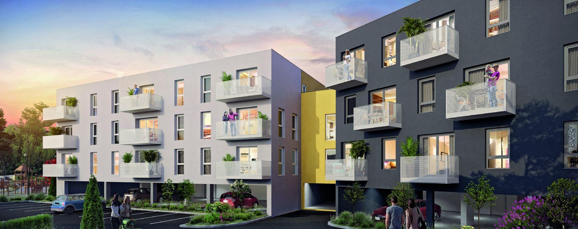 Le Petit-Quevilly : programme immobilier neuve « Le Village de Diane » en Loi Pinel
