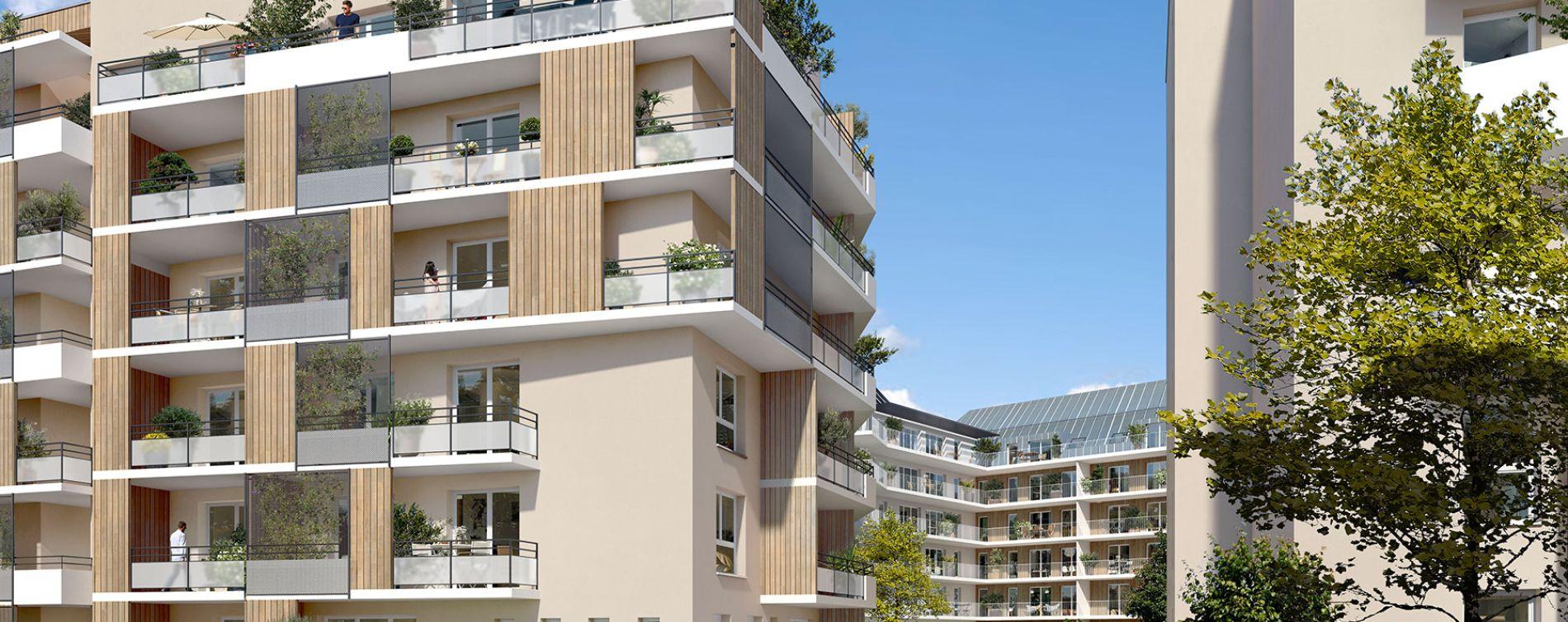 Rouen : programme immobilier neuve « Carré Flora » en Loi Pinel