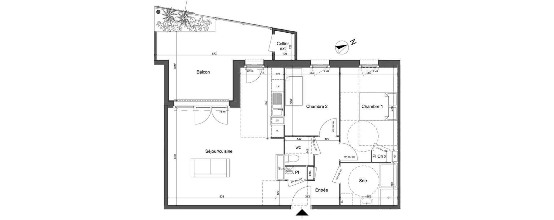 plan appartement carré