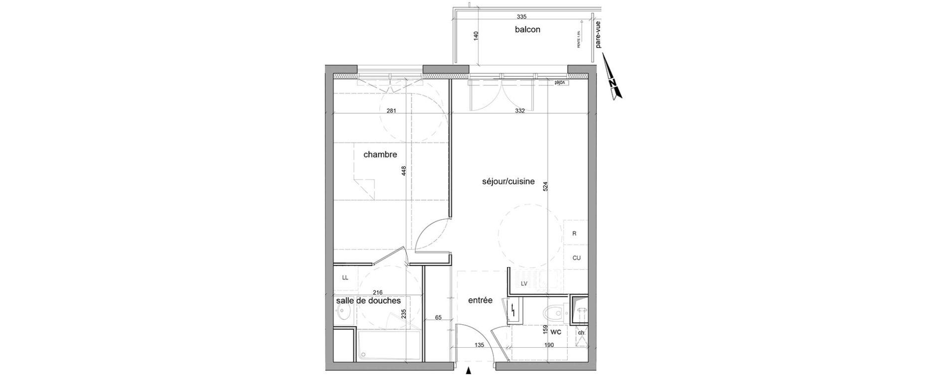 Plan T2 neuf à Saint-Léger-du-Bourg-Denis de