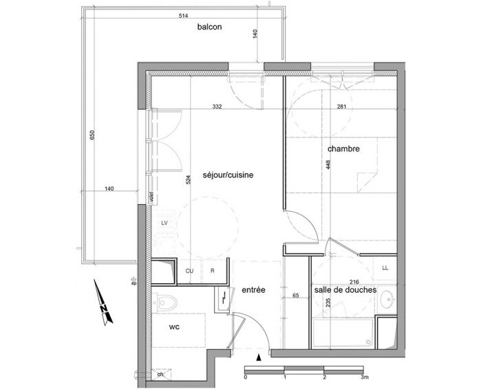 Appartement t2 saint l ger du bourg denis n 534 for Appartement nord ouest