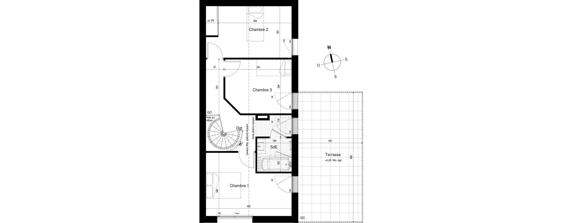 Duplex T4 de 91,13 m2 à La Rochelle Bongraine