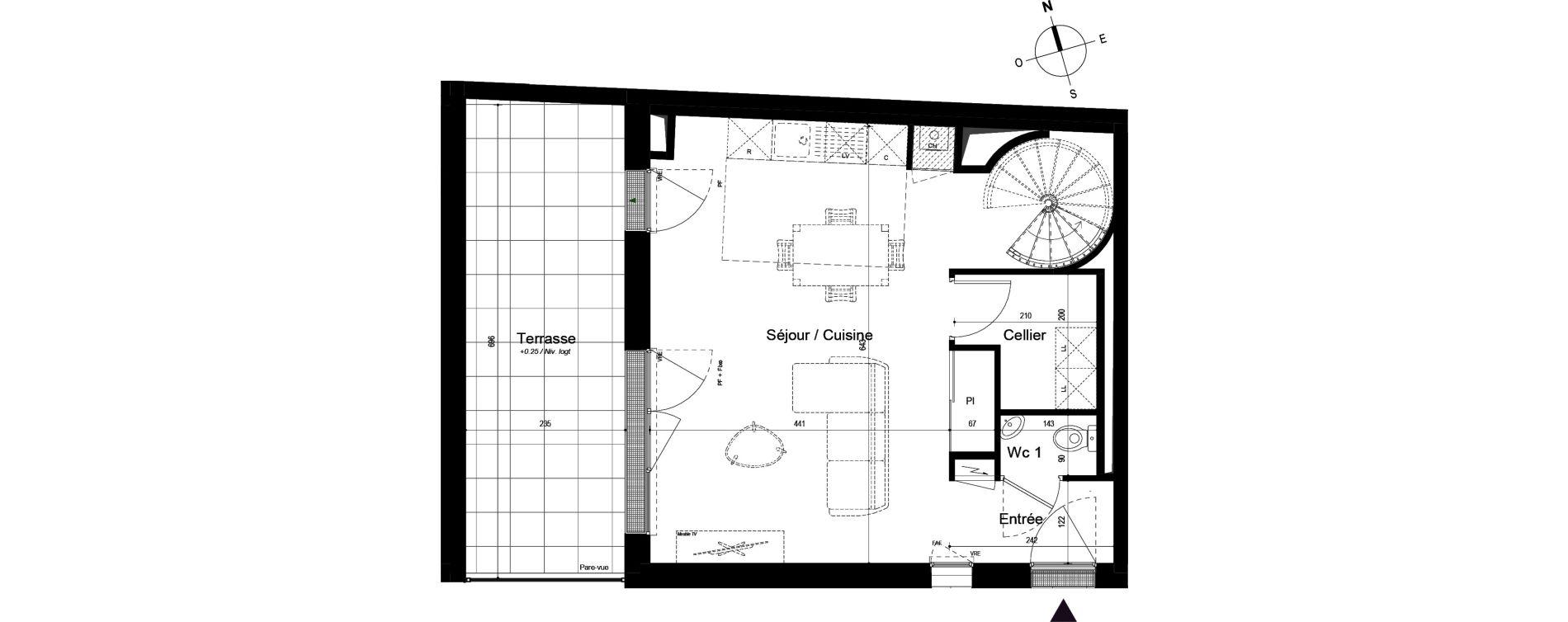 Duplex T3 de 78,35 m2 à La Rochelle Bongraine