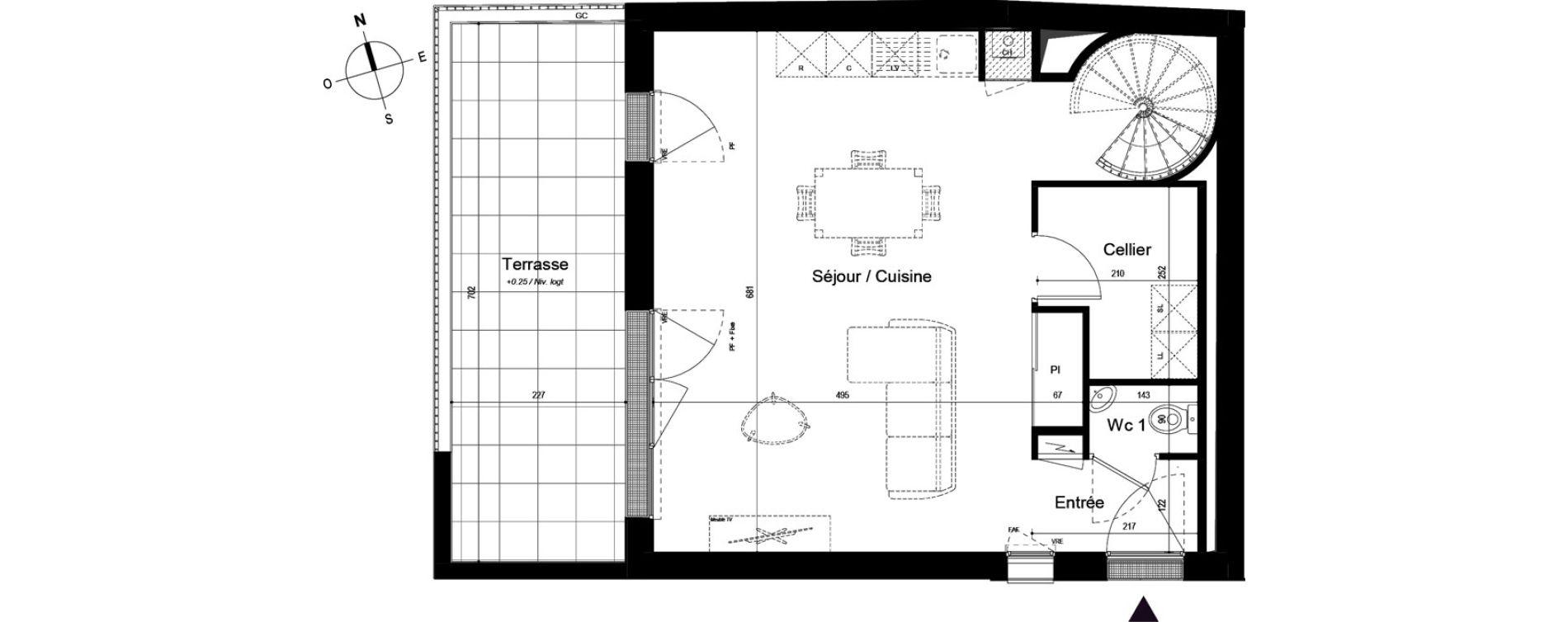 Duplex T4 de 90,47 m2 à La Rochelle Bongraine