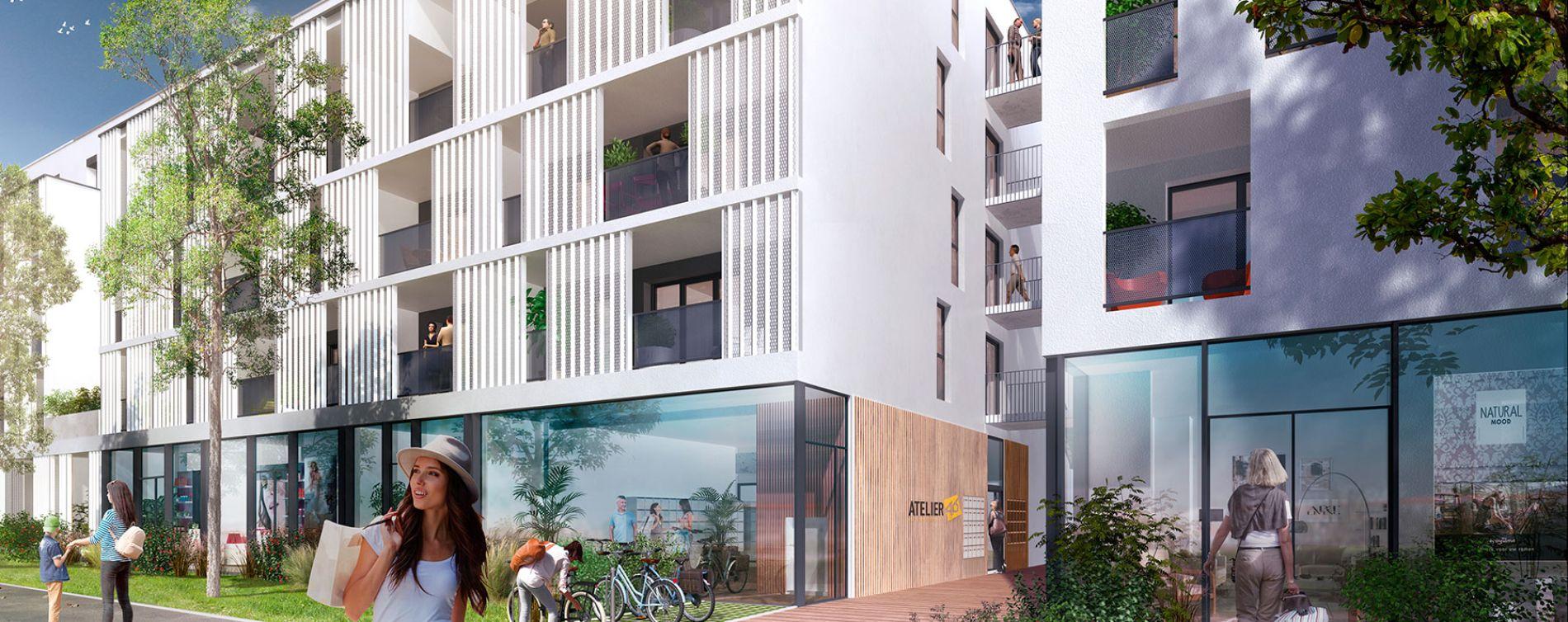 La Rochelle : programme immobilier neuve « Atelier 46 » en Loi Pinel