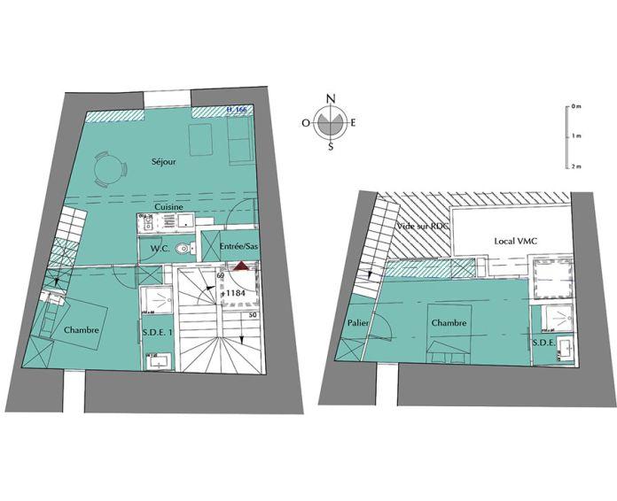 Plan T3 neuf à la Rochelle de