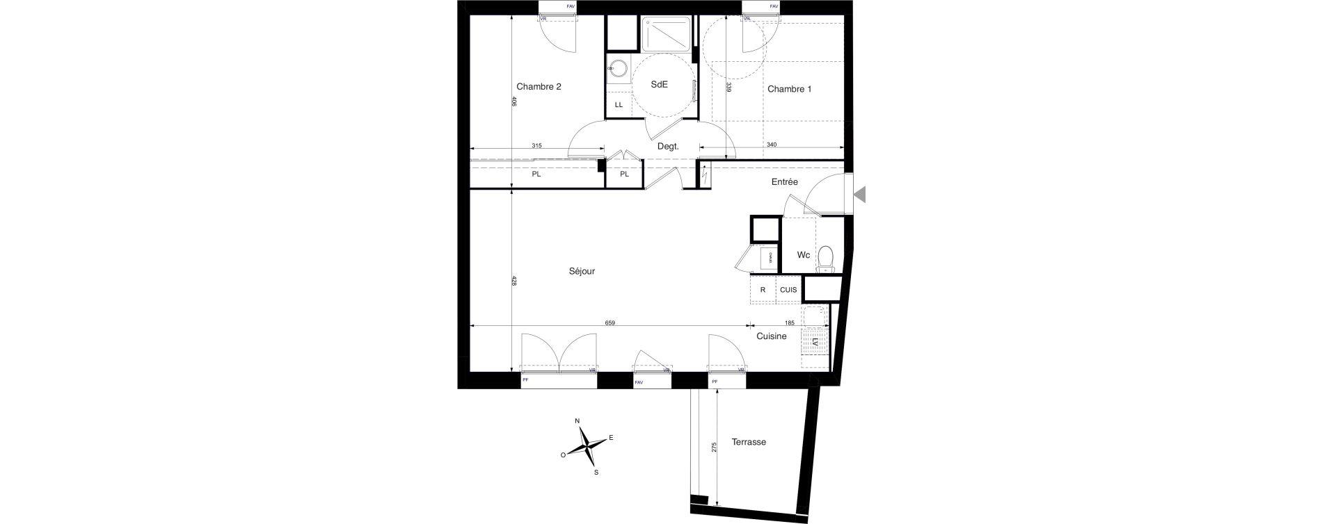 Appartement T3 de 69,89 m2 à La Rochelle Cognehors