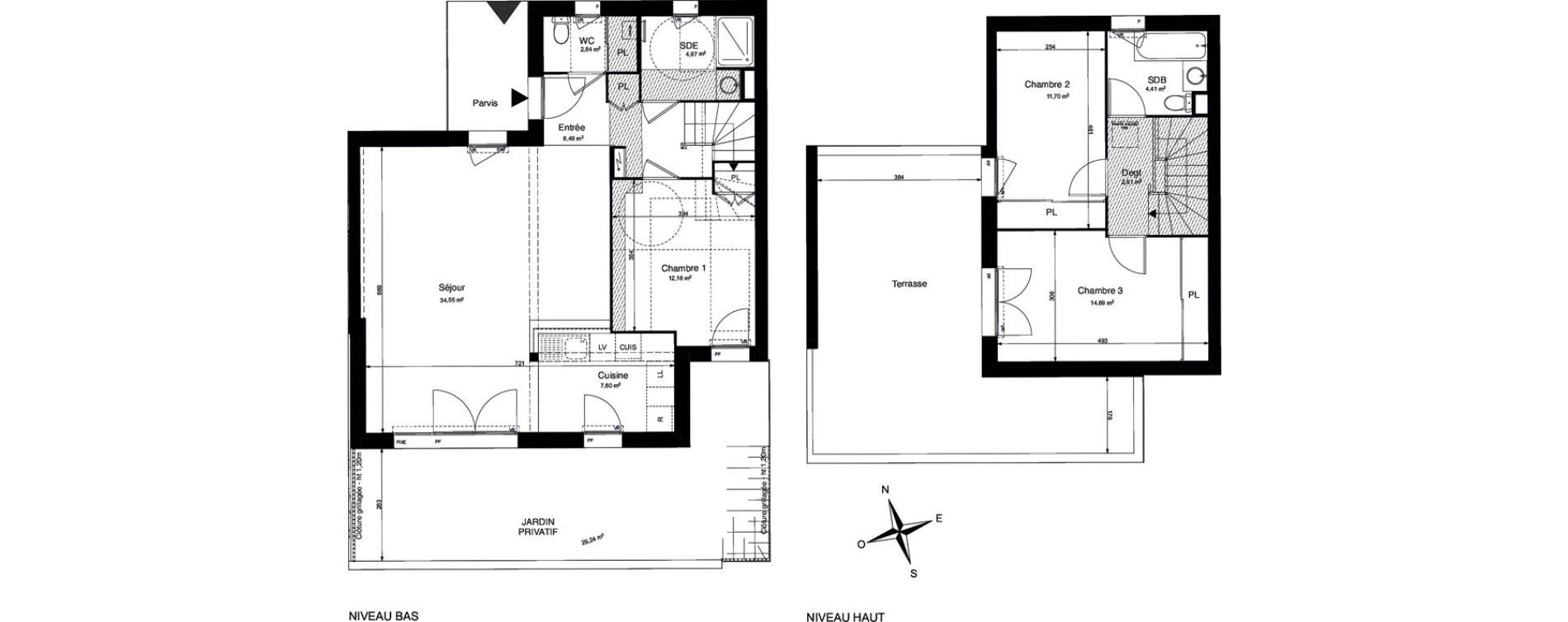 Maison T4 de 102,21 m2 à La Rochelle Cognehors