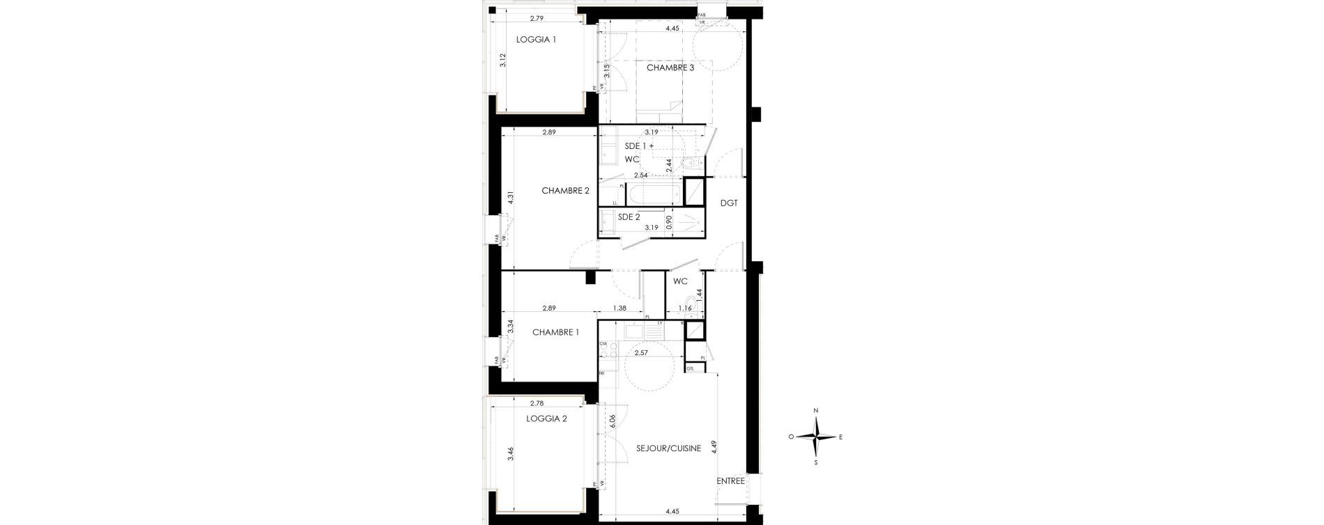 Appartement T4 de 87,18 m2 à Lagord Atlantech