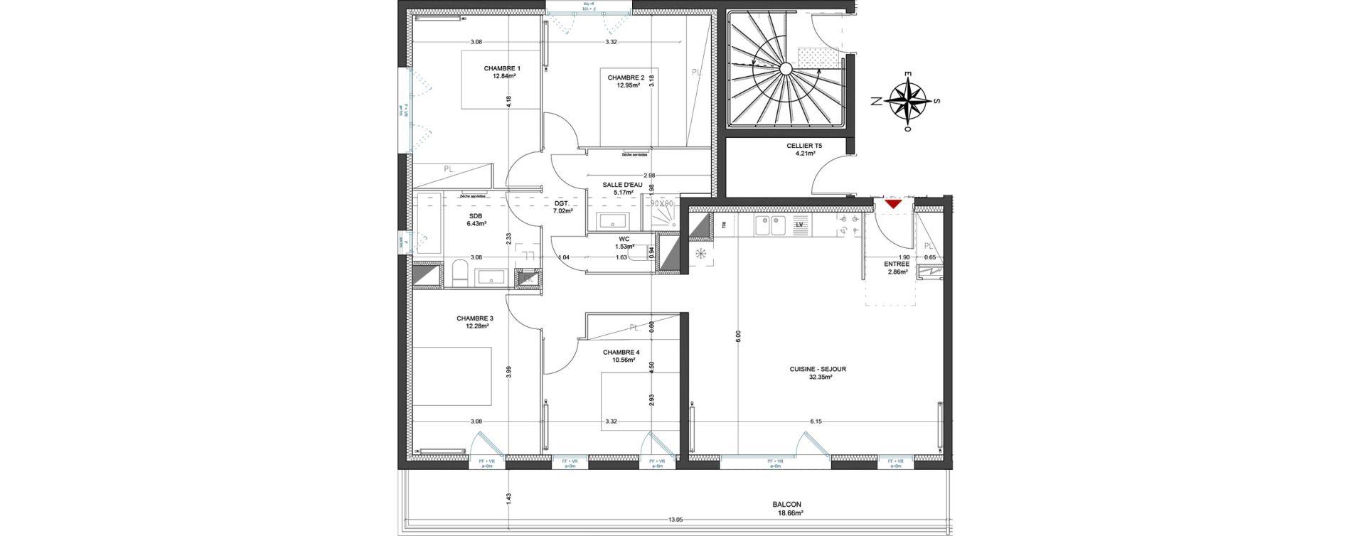 Appartement T5 de 103,99 m2 à Lagord Atlantech