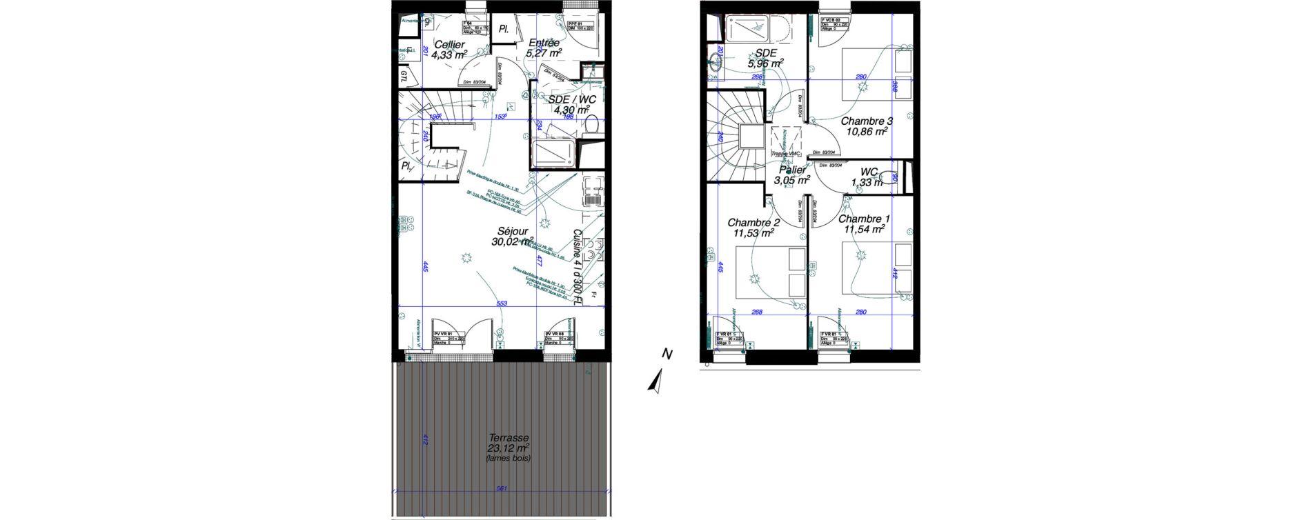 Maison T4 de 88,20 m2 à Périgny Centre