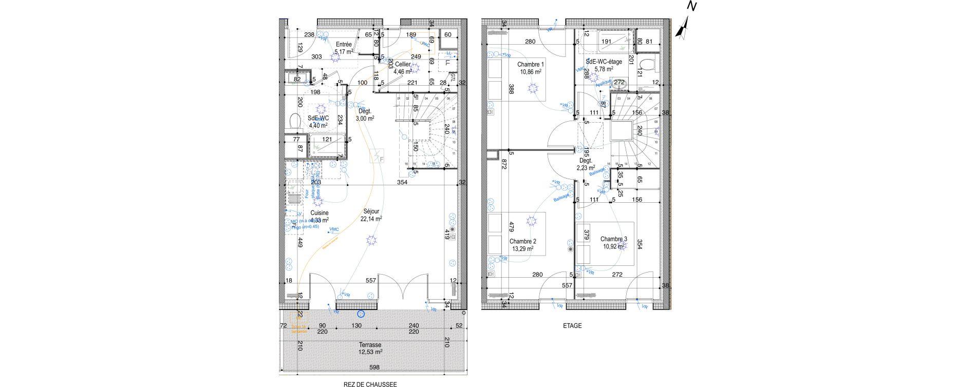 Maison T4 de 86,58 m2 à Périgny Centre