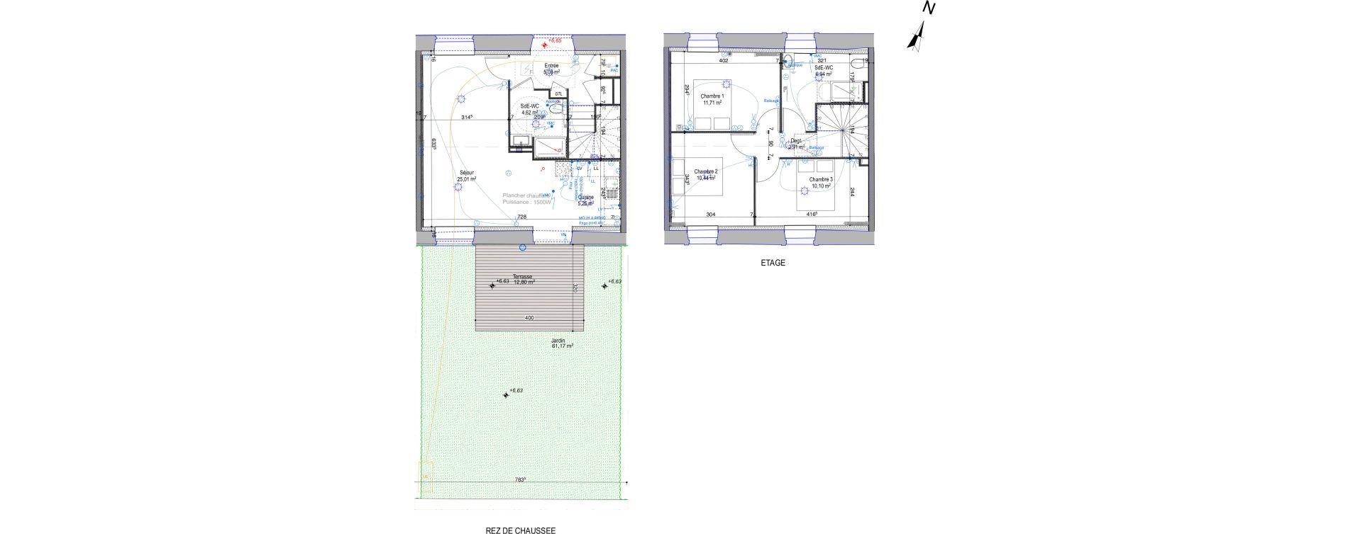 Maison T4 de 82,06 m2 à Périgny Centre
