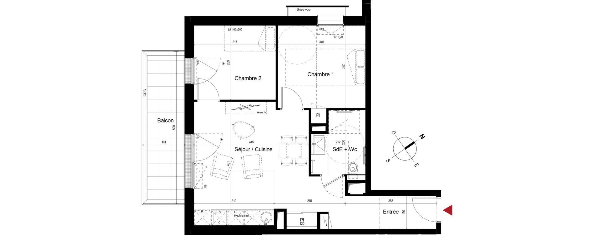 Appartement T3 meublé de 53,11 m2 à Royan Centre