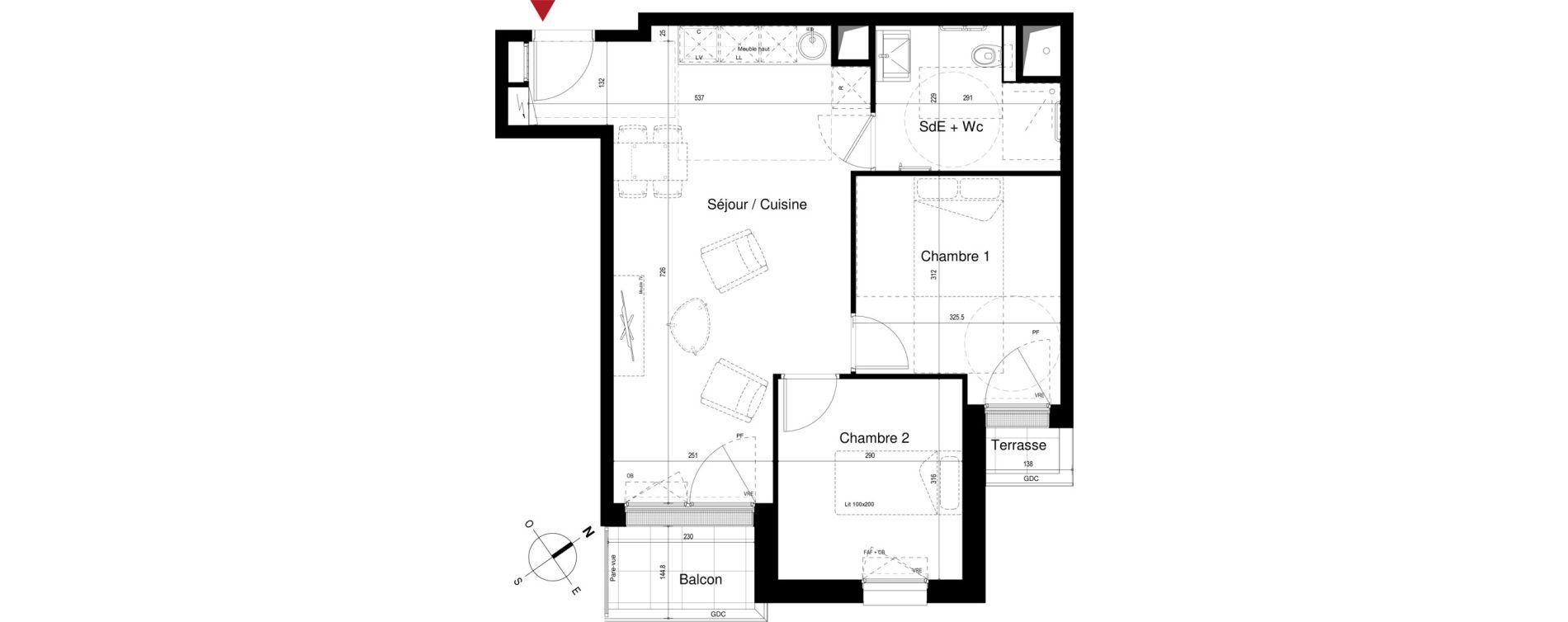 Appartement T3 meublé de 53,21 m2 à Royan Centre