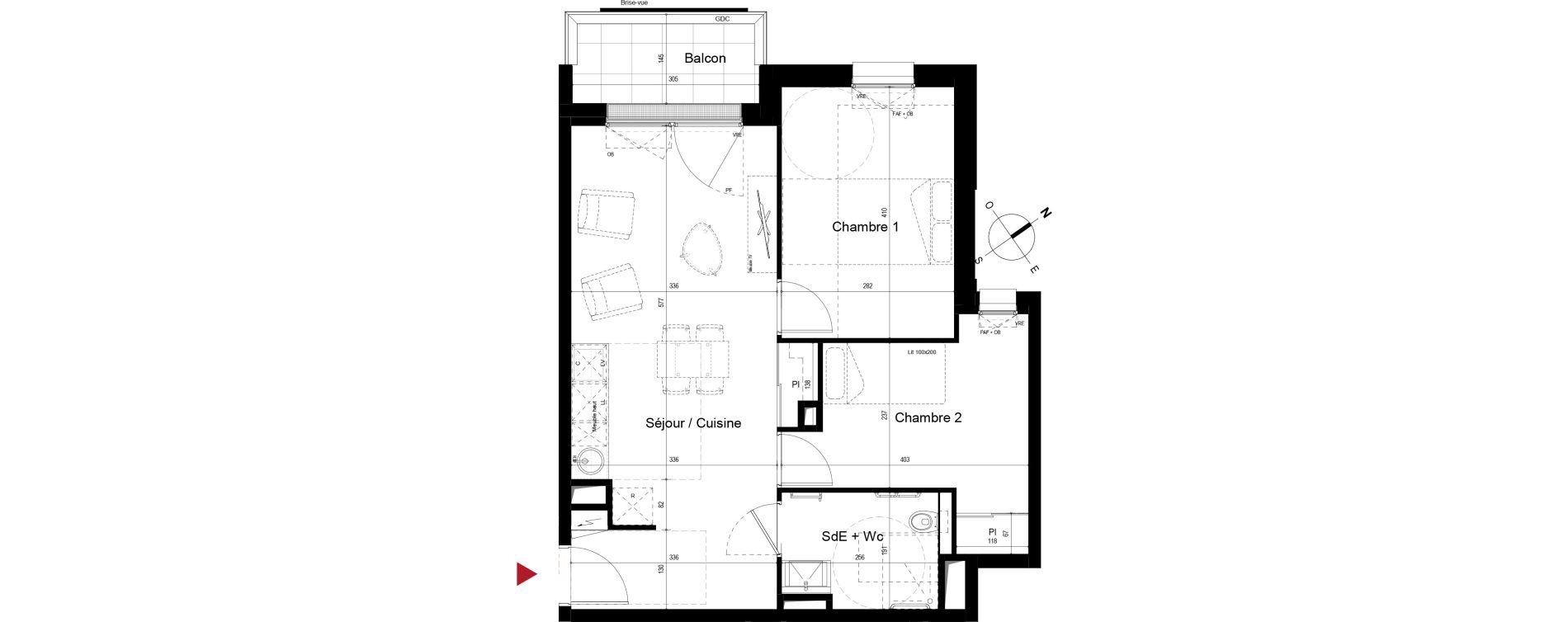 Appartement T3 meublé de 53,42 m2 à Royan Centre
