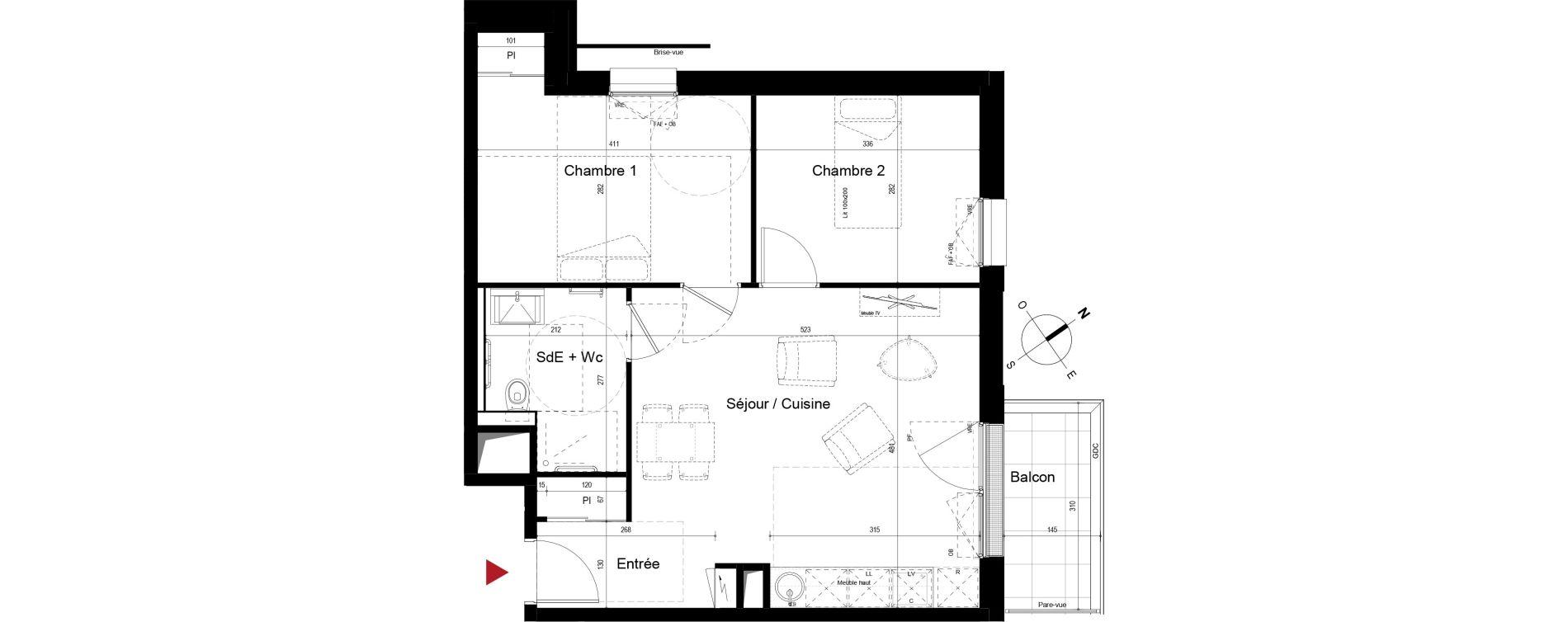 Appartement T3 meublé de 54,53 m2 à Royan Centre