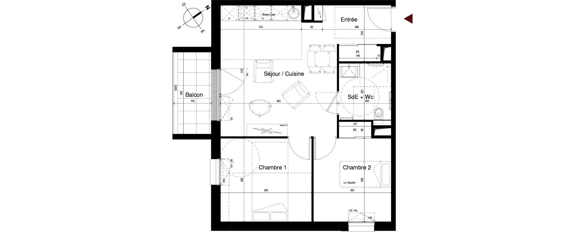 Appartement T3 meublé de 53,71 m2 à Royan Centre