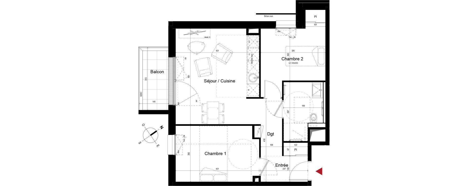 Appartement T3 meublé de 54,22 m2 à Royan Centre