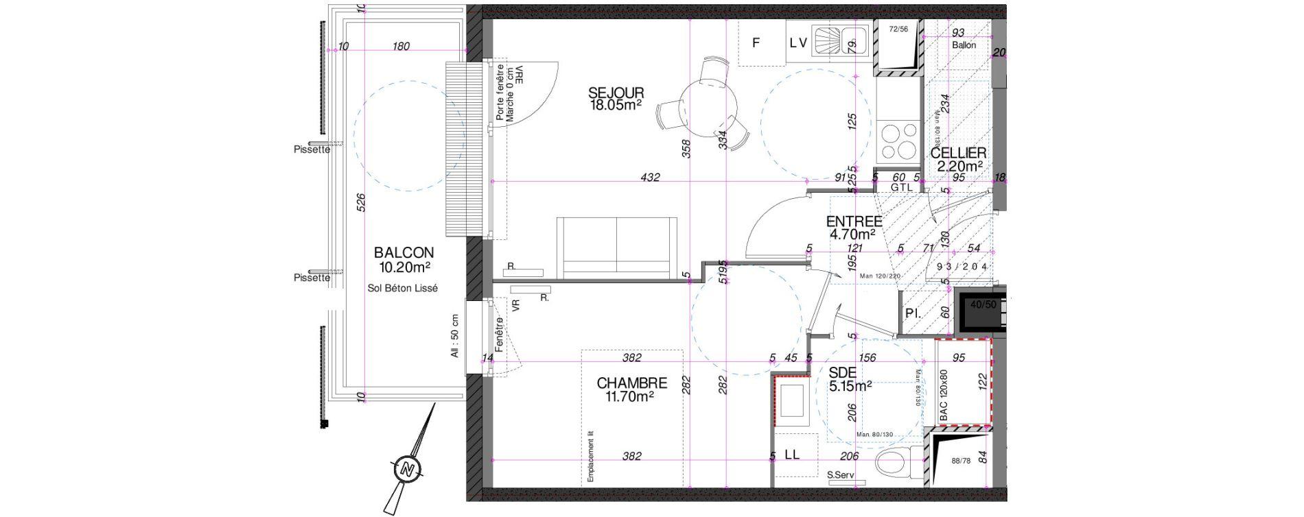 Appartement T2 de 41,80 m2 à Royan Centre