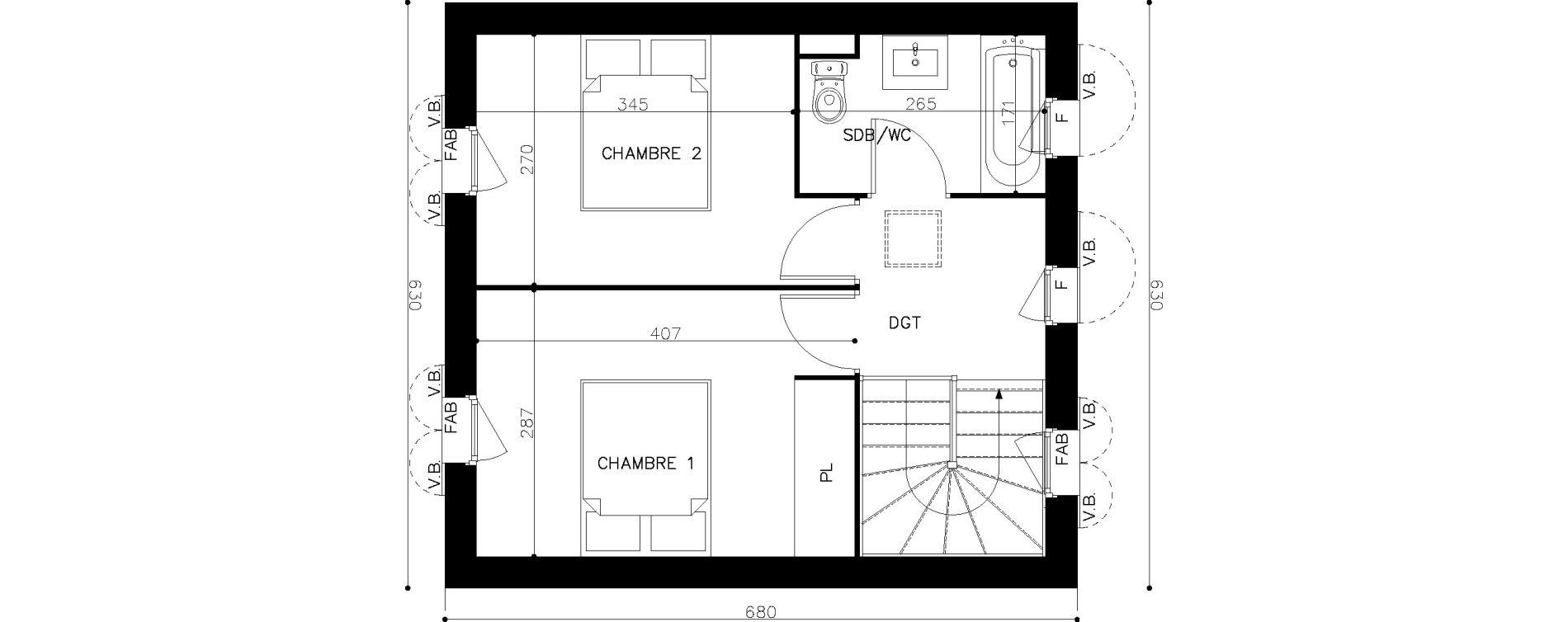 Maison T3 de 60,45 m2 à Saint-Georges-D'Oléron Centre