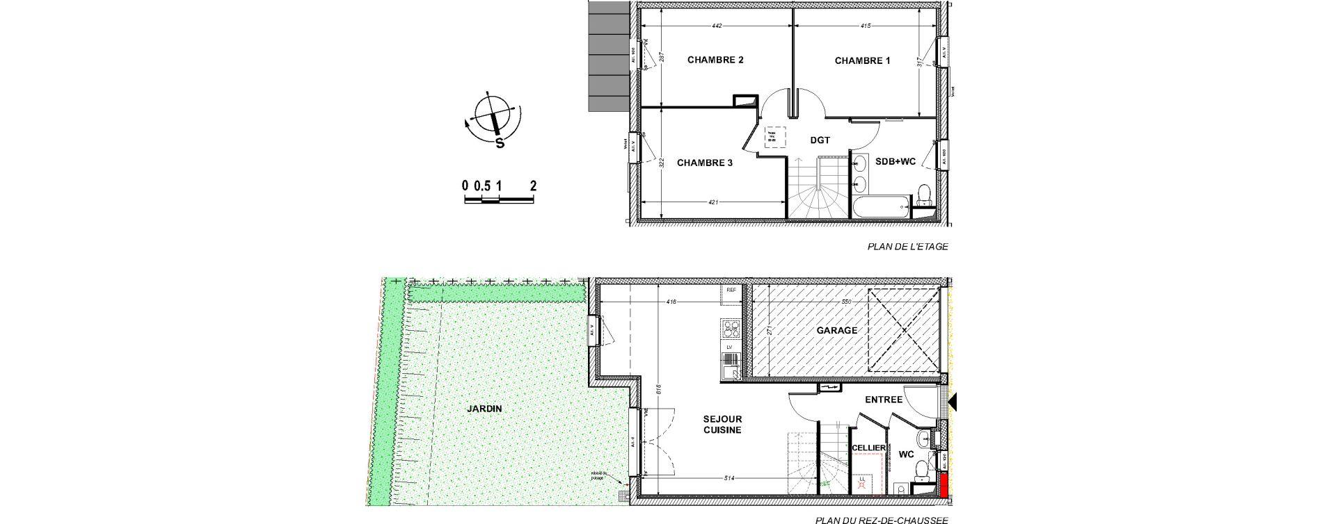 Maison T4 de 84,50 m2 à Saint-Xandre Centre