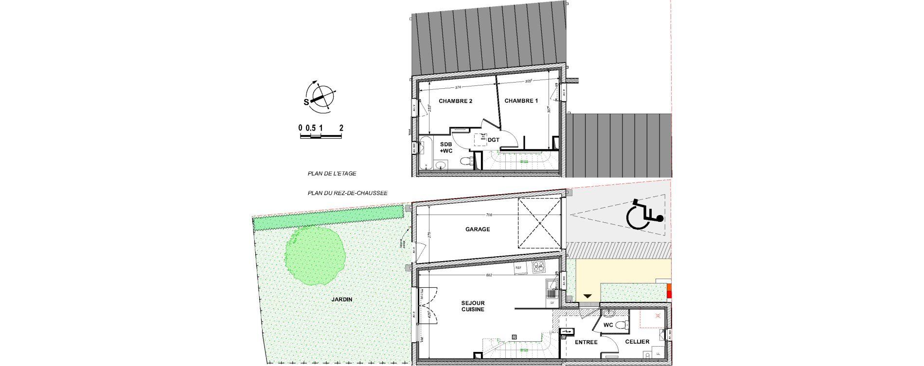 Maison T3 de 66,54 m2 à Saint-Xandre Centre