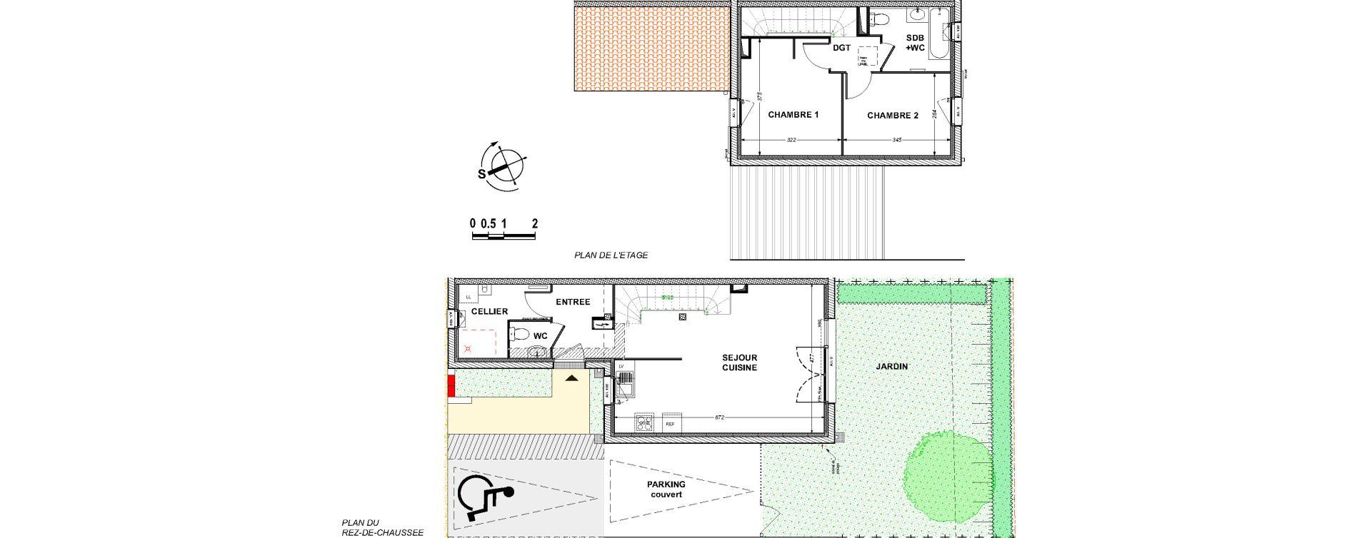 Maison T3 de 68,57 m2 à Saint-Xandre Centre