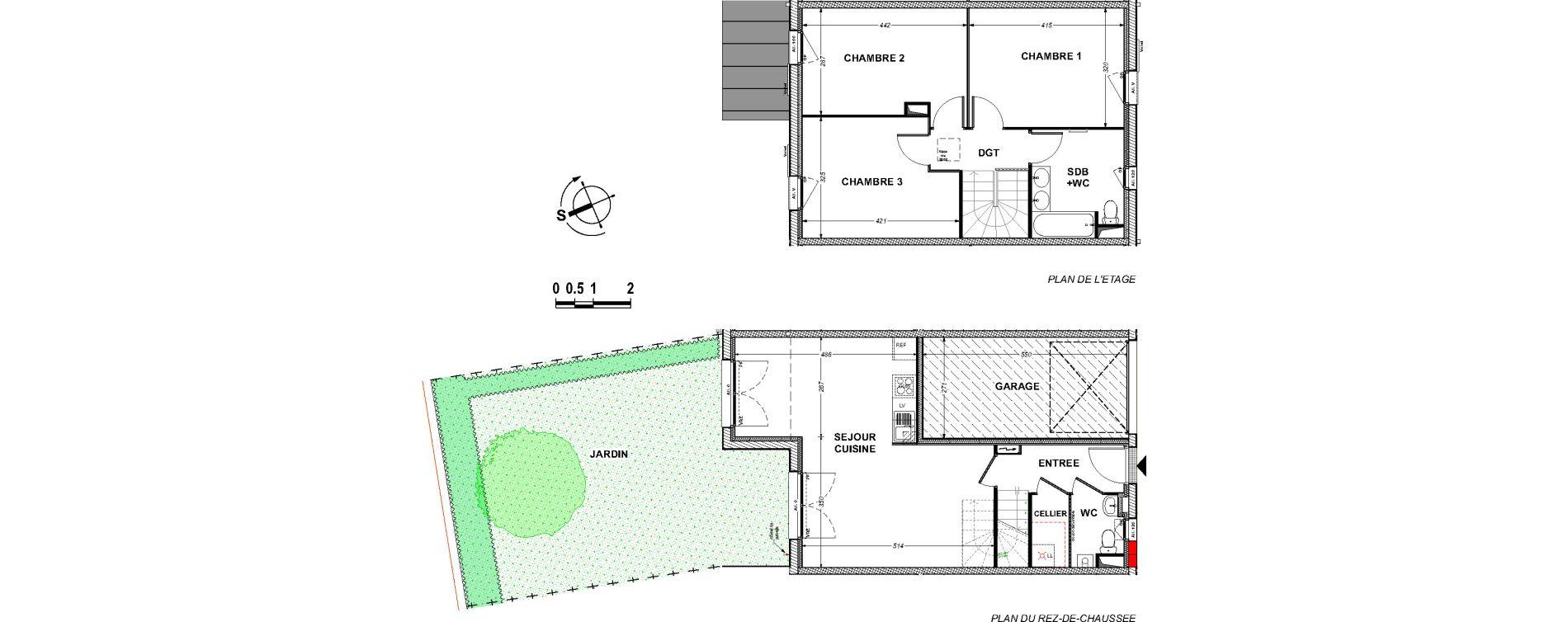 Maison T4 de 86,59 m2 à Saint-Xandre Centre