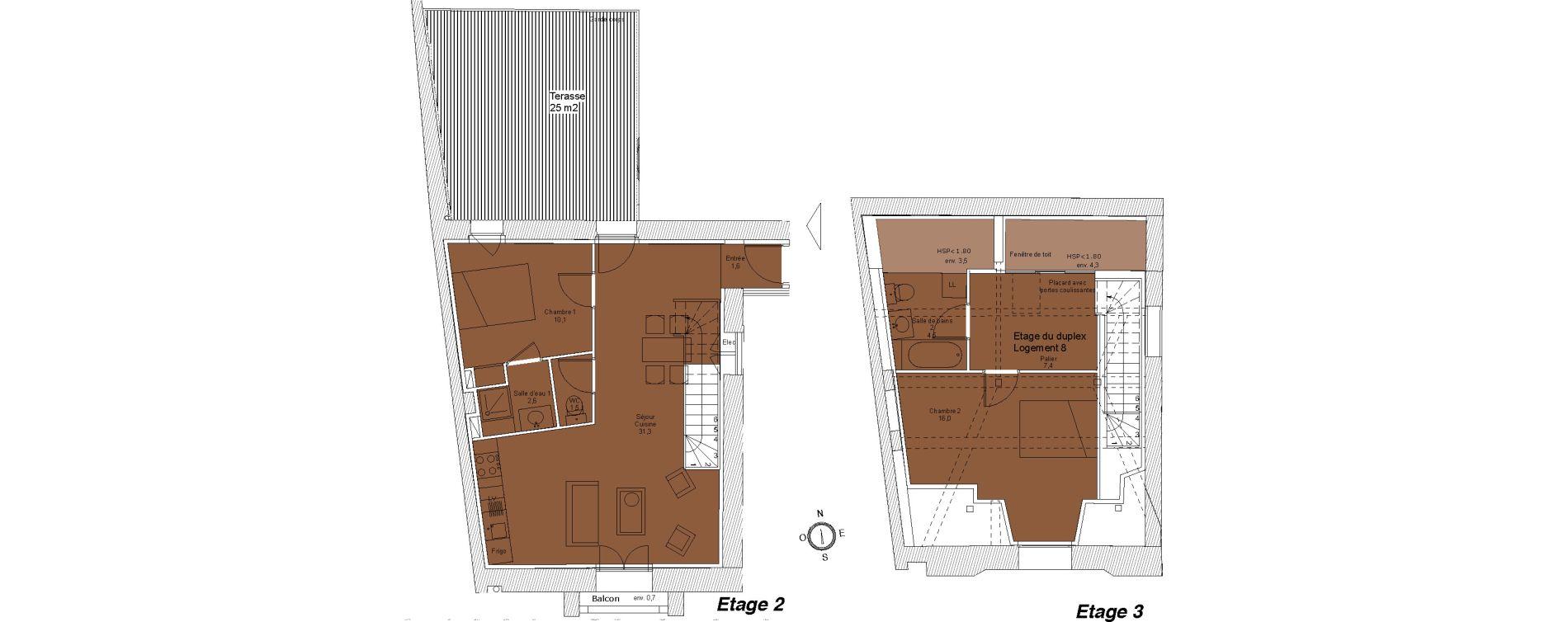 Duplex T3 de 75,00 m2 à Saintes Saintes saint-pierre