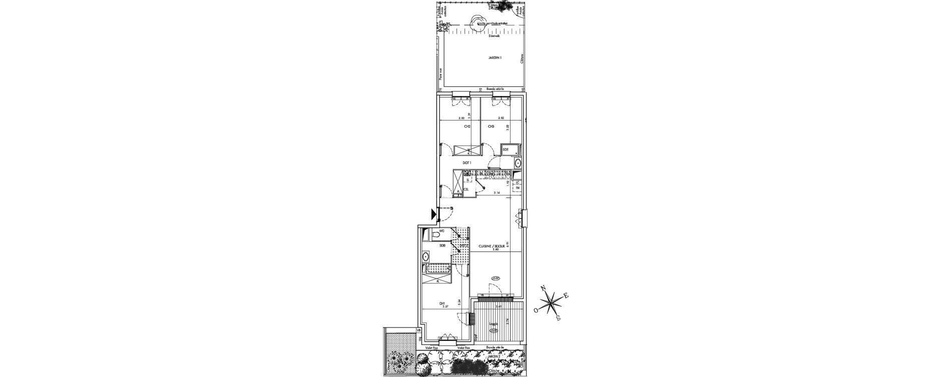 Appartement T4 de 91,20 m2 à Arcachon Centre