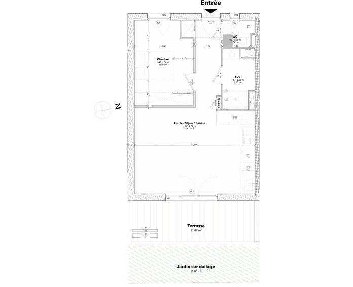 Plan T2 neuf à Arcachon de